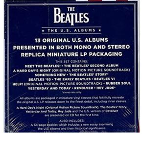 Limited edition  The Beatles The US album Never used them or played   The U.S. Albums is a box set compilation comprising the remastered American albums released by the Beatles between 1964 and 1970. The box set was released on 21 January 2014 in the United States, marking the fiftieth anniversary of the Beatles' first trip to the US and first American album from Capitol Records, Meet the Beatles!