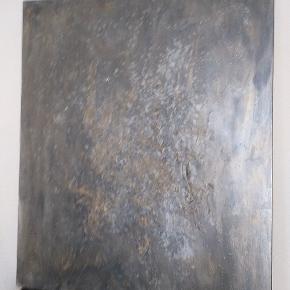 Flot maleri af ukendt kunstner, måler 120 x 100 cm