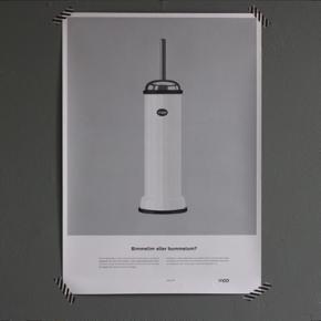 VIPP toiletbørste plakat. Aldrig brugt  Mål: 42x60 cm Sendes ikke - da jeg ikke har plakatrør. Afhentes i aalborg.