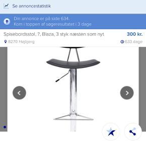 Jeg har 3 styk barstol salg Samle prisen er 800kr Et styk koste 300kr