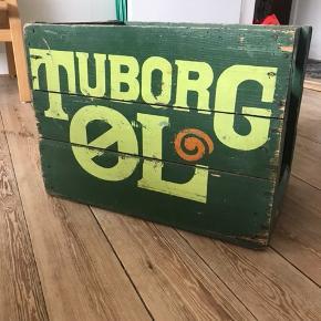 Original Tuborg ølkasse i god stand, stadig rigtig fin i malingen på begge sider 😁 Afhentes i Aarhus C.