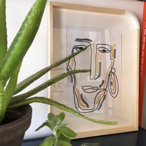Smukke unikke kunstplakater, alle forskellige. De er håndtegnet og måler A4 ✨✨ Der kan sendes flere billeder  Kan også laves på bestilling