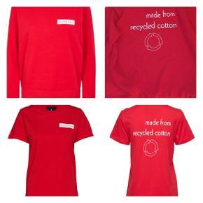 Sweatshirt hedder str L men svarer til M, begge dele er nye med mærker. Sælges helst samlet - prisen er for begge dele.