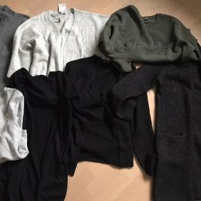 Lækre strik og smarte Sweatshirt   Køb dem alle for 200,- samlet