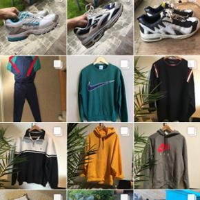 Jeg sælger alt muligt via min InstagramSecondhand_sorgenfri Kappa, ultra boost, supreme, Stone island, Nike Adidas, vintage, Retro, tracksuits, jakker, sko/Sneakers i alle størrelser