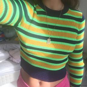 Neon stribet Asos top strik sweater  Mega seje farver!  Tags: Zara h&m other stories
