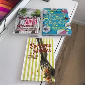 """""""Suveræne"""" kogebøger. Har aldrig været brugt. 30 kr pr stk/ 3 for 50 kr."""