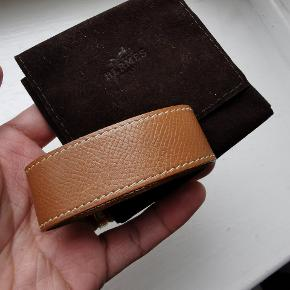 Hermes brun armbånd str medium (cirka 17 cm)