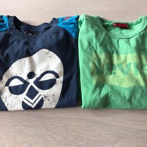 God tøjpakke bestående af tre langærmede skjorter (Trousers, Gro Name it), en kortarmet skjorte (Miniature), to langærmede t-shirts (Levis, Hummel), Lacoste polo (kortærmet), tre hoodies (Benetton, Adidas, Skylander), to striktrøjer (Name it), to par cowboybukser (Name it, Benetton, slim fit), to par joggingbukser (papfar (str 122), Drappa Dot og et par termobukser (Tickets). Ingen pletter på noget af det, altsammen velholdt.