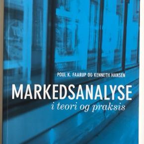 Markedsanalyse - I Teori & Praksis (1. udgave), Poul K. Faarup & Kenneth Hansen.  Der er lavet overstregninger, men ikke noter.  Kan mødes i København eller Roskilde.