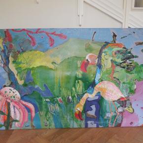 Stort fantastisk maleri af Billmlinde. Sælger for 4500kr. mål:  Kan ses i Rungsted.  Galleripris 15000kr.