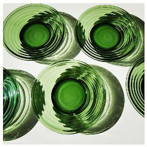 Græs grønne rillede isasietter, d: 17,5 🌱🌿♻️🍀 12 haves, 2 for 35kr, 12 for 200kr