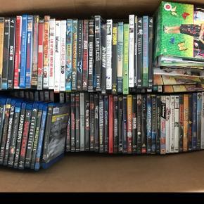 En kæmpe kasse med DVD'er ca 100-150 stk OG blueray ca 50 stk!!!!!! 🎥  HELE KASSEN KAN AFHENTES I HELSINGØR FOR 500KR!!!!✨