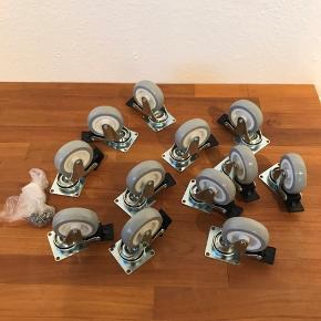 Rill hjul - købt til montering, men det blev for højt, så derfor sælger jeg dem.   Nypris:  79,- for 2 stk, så 474,- i alt. Jeg havde dem monteret med skruer til 16 mm blade, og de følger med.  Sælges samlet for 300,-.  Kan sendes for købers regning eller afhentes i storvorde eller Aalborg.