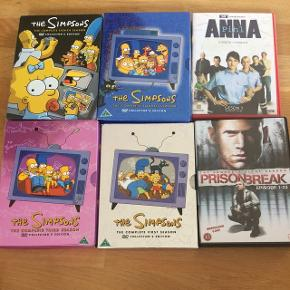 Tv-serier  Pris pr styk, eller rabat ved køb af flere.  The Simpsons sæson 1, 3, 4 & 8  Prison break sæson 1 Anna Pihl sæson 1