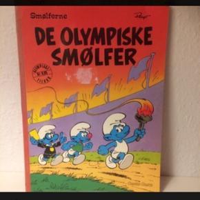 Smølfe tegneserie  olympiade  Retro . A4 str. smølfer   Sender gerne
