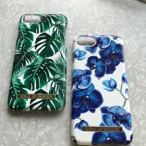 Covers fra Ideal of Sweden, til iPhone 7 og 8. Brugt et par måneder. Den blå har en lille revne i toppen.