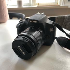 Sælger dette Canon 1200d. Spejlreflekskamera i meget fin stand inkl. 18-55 mm objektiv + lader og kamerataske 😌