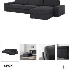 Næsten helt ny sofa, som stort set ikke er blevet brugt. Fremstår helt som ny. Betræk kan tages af og vaskes. Skal afhentes i Søborg senest d. 26/8.