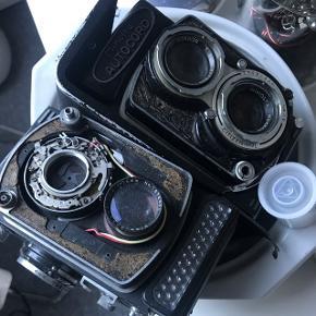 Minolta Autocord mellemformat kamera. 2 stks Sælges defekt