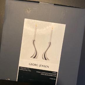 Georg jensen, 2 stk smukke lysestager, aldrig brugt.  Højde: 200mm Pris: 600kr