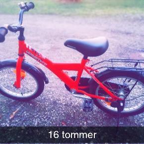 Pæn velholdt børnecykel 16 tommer sælges, da vores datter er blevet for stor til den.