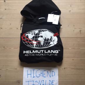 Helmut Lang Hoodie All Around The World XL fitter 190 Prøvet på, tags medfølger samt kvittering