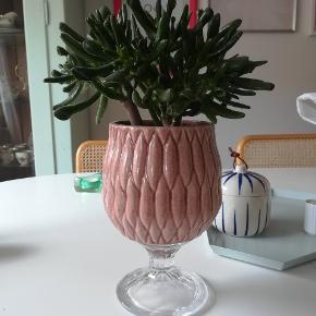Opsats til f.eks planter eller kageflad i krystalglas.  Se også mine andre annoncer 😊 jeg giver mængderabat