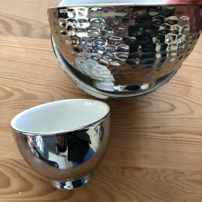 2 stk sølvskåle 13 cm dia 1 stk. 8,5 cm