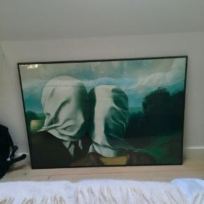 """Réné Magrittes  """"Love"""" i ramme sælges. Fin stand. Skal hentes på Frederiksbjerg."""
