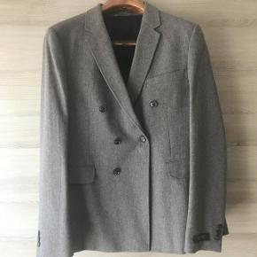 Veste de costume grise en laine, taille 50, M-L.