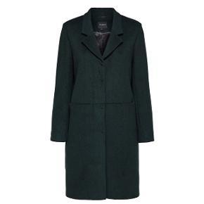 Fineste sorte frakke med 50% uld. Stadig i butikkerne til 1300kr. Sælges, da den er for stor til mig - jeg er normalt 34/36.  Afhentes i Århus C.