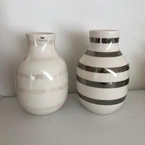 To super flotte Kahler vaser i str. 12,5. Sølv og perlemor. Begge to kun stået til pynt i kort tid. Standen er super. 125 kroner pr stk.