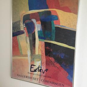 Indrammet plakat udstilling af Maurice Estéves biller i 1994 i Gallerihuset, Studiestræde, KBH. Mål 90 x 71.
