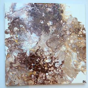 Akrylmaleri, blank overflade  30x30cm