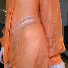 Mesh skjorte i orange 🧡🧡🧡