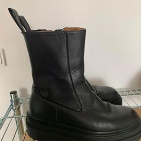 Læder ankelstøvler