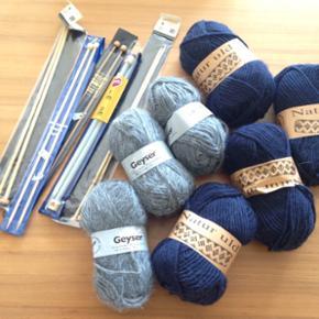 Kvalitetsgarn og strikkepinde!   BYD:-)