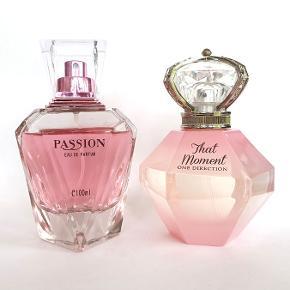 Dameparfume, Eau de parfum, One Direction That Moment / Passion 2 x 100ml edp, næsten fulde. Friske og frugtige, feminine og ikke for søde, perfekte gaver til en ung pige eller kvinde, store str, høj kvalitet til prisen, køber betaler porto, samlet pris