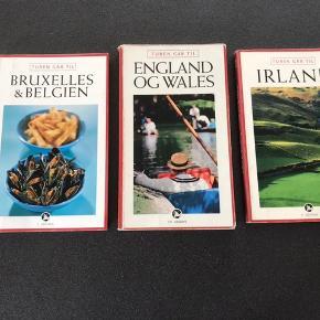 Rejsebøger  turen går til Irland  turen går til England og wales  turen går til Bruxelles & Belgien Pris : 20kr stk Sommer - ferie - vand - Badeferie - rejser