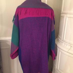 Multifarvet Poncho frakke - Vintage 🌺