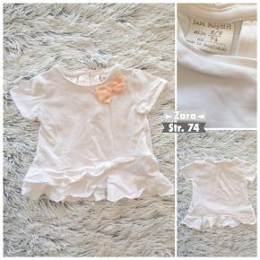 Zara t-shirt i str. 74 helt ny kun vasket.  Sender selvfølgelig gerne hvis du betaler porto.