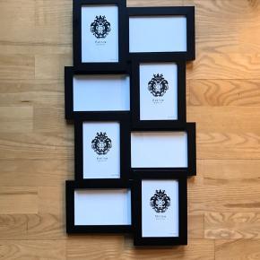 2 collagerammer med plads til 8 billeder i hver.  Billedeformat: 10x15 cm  Rammerne kan evt sammensættes til en større collage.  Sælges for 100 kr/stk. Nypris 200 kr/stk.