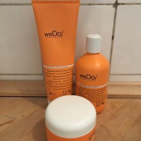 vegansk og animal cruelty free hår produkter fra wedo professional - bæredygtig indpakning og produkter lavet med omtanke! jeg har 2 af hver så sælger det da jeg ikke kan nå at bruge det - hår maske, shampo og balsam