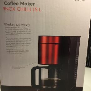 Ubrugt OBH kaffemaskine OBH cafe` Inox.  -Kraftfuldt varmelegeme på 1100 W -Kapacitet på 1,5 liter, hvilket svarer til 12 kopper kaffe -Praktisk aftagelig filterholder -Auto-off slukker automatisk efter 40 min. -Drypstop funktion stopper automatisk dryp på varmepladen