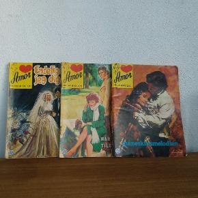 Amor mfl. Gamle kærligheds tegneserier fra 70erne og 80erne.  Pr stk kr 10