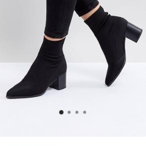 Støvler med elastik fra asos. Er en str. 38, men fitter mere 37-37,5. Brugt 2-3 gange da de er for små.