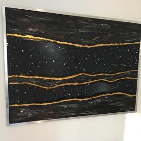 Maleri med målene 140x100x3 cm. Malet med akryl og spray 🎨Pris er uden forsendelse Tager også imod bestillinger efter egne farve- og størrelsesønsker 🍭🙏🏽