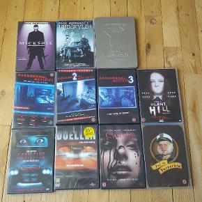 Gyser film, Mick Øgendahl samt andre DVD film sælges. 10 kr pr stk