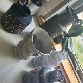 5 stk fine vaser / pynte vaser  20 kr pr. stk.